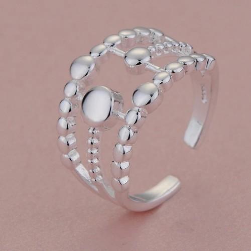 Srebrny pierścionek - regulowany rozmiar.
