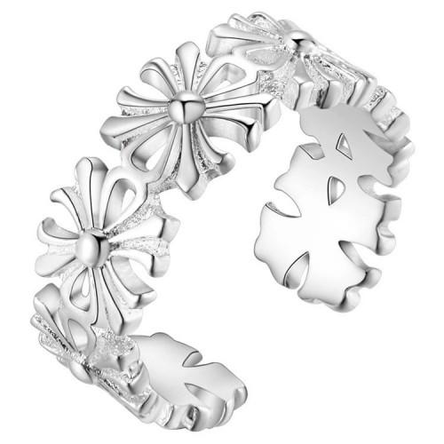 Delikatny ornamentowy pierścionek - rozmiar uniwersalny