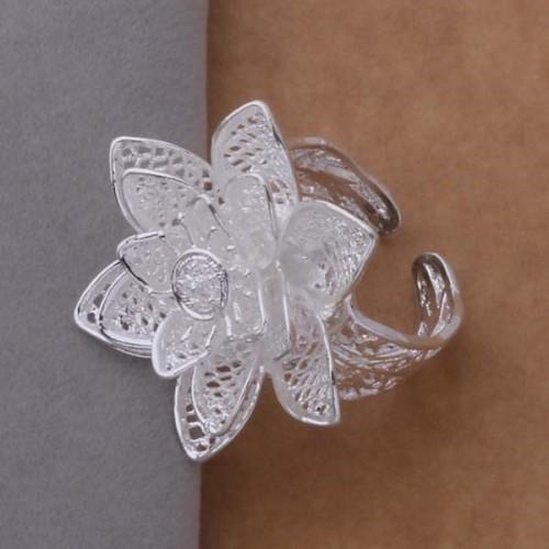 Srebrny regulowany pierścionek