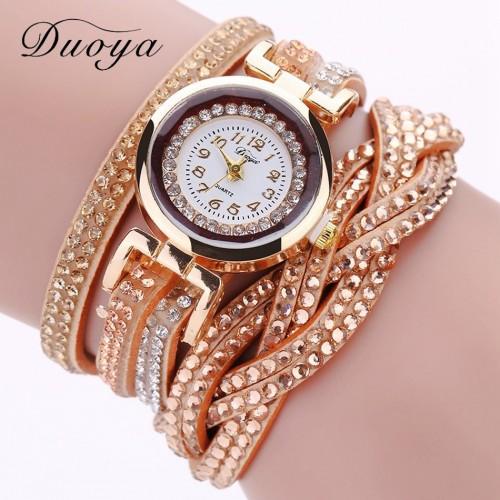 Zegarek damski z kryształami i piękną bransoletką